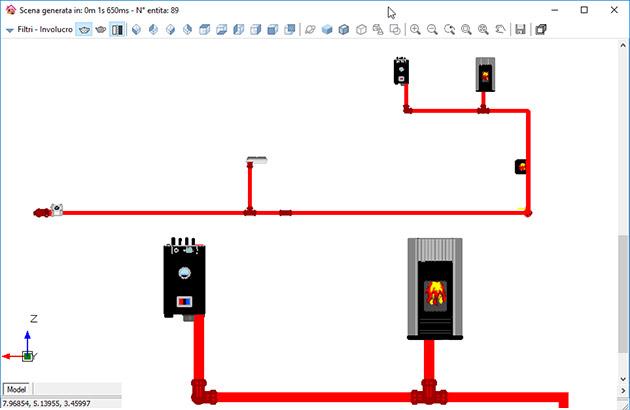 Reti gas software per il dimensionamento e verifica for Schema impianto gas dwg